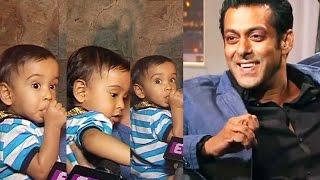 Salman Khan's CUTE Nephew Ahil Plays With Media - Baahubali 2 Screening
