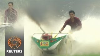 Famers race ploughs in Thailand News Video