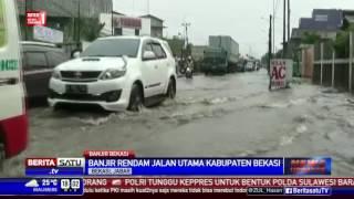 Hujan Dua Jam, Jalan Utama Bekasi Kebanjiran