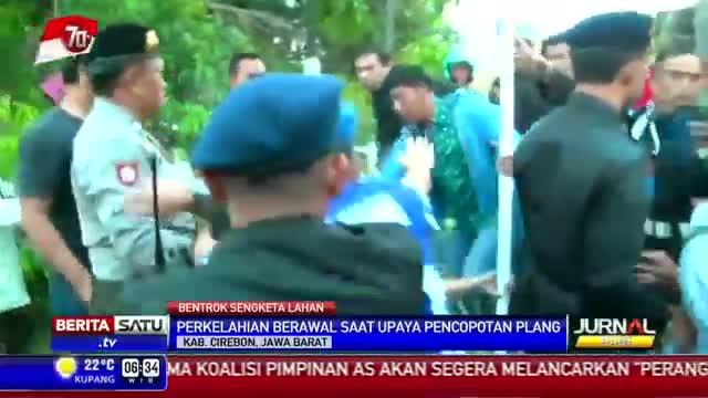 Eksekusi Lahan Gedung PMI Cirebon Berujung Bentrok