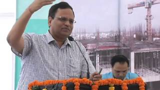 Satyender Jain at the inauguration of increase in bed capacity from 200 to 800 beds