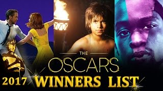 Oscars 2017 - FULL WINNERS LIST - Moonlight, La La Land, The Jungle Book