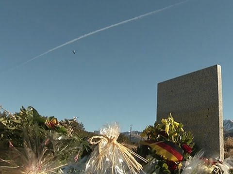 Raw- Memorials in France for Plane Crash Victims News Video