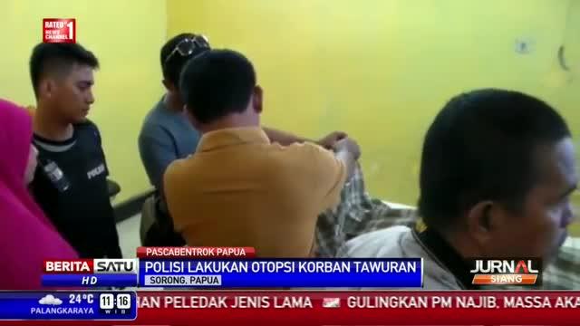 Polres Sorong Kota Otopsi Korban Tawuran