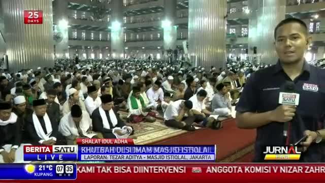 Umat Islam di Jakarta Shalat Ied di Masjid Istiqlal