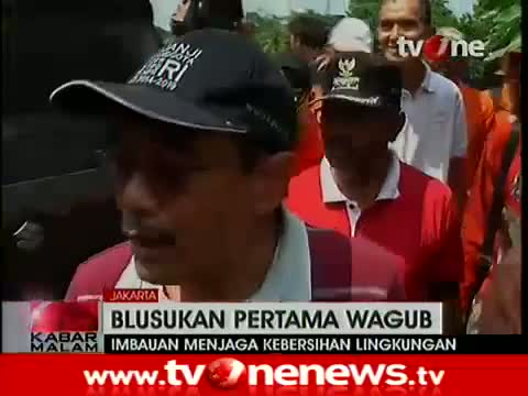 Wagub DKI Djarot Saiful Blusukan ke Kawasan Rawan Banjir 6 Januari 2015