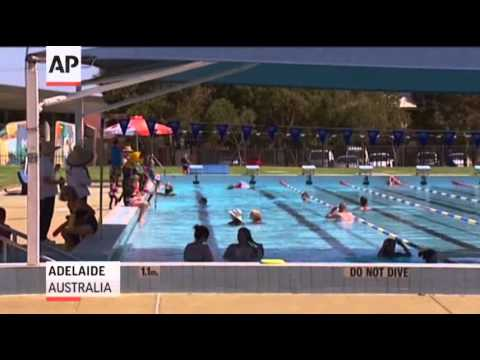Raw- Australia Sweats Out Heat Wave News Video