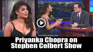 "Priyanka Chopra Appears On "" LATE SHOW WITH STEPHEN COLBERT """