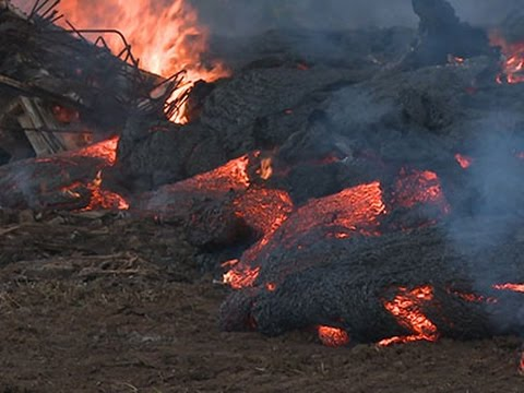 Raw- Molten Hot Lava Surges in Hawaii News Video