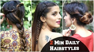 3 SIMPLE Hairstyles For Everyday For School, College, Work/ Kareena Kapoor/ Quick & Easy