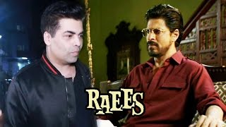 Karan Johar WATCHES Shahrukh's RAEES At PVR Cinema