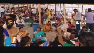 Huge Devotees Rush In Yadadri Sri Lakshmi Narasimha Swamy temple | iNews