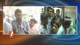 People Waiting In Long Queues at ATMs For Money Withdrawal In Nalgonda | iNews