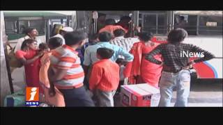 500 and 1000 Rupees Note Ban | Passengers Facing Problems on Change | iNews