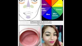 How to hide DARK CIRCLES with makeup | how to make colour corrector at home | DIY CREAM BLUSH