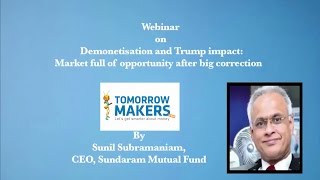 Webinar on Demonetisation and Trump impact