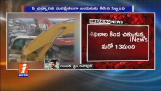 2 Survivors and One Dead Body Pulled Out From Collapsed Building at Nanakramguda | iNews