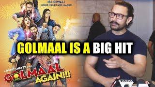 Golmaal Is A BIG HIT - Aamir Khan's Reaction On Golmaal Again Box Office Collection