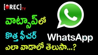 WhatsApp Brings Back Your Favorite Feature | Good News To WhatsApp Users| Rectv India