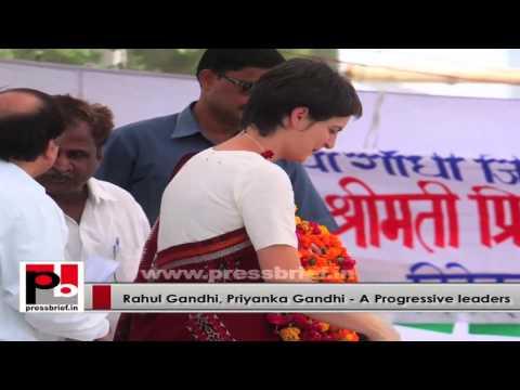 Priyanka Gandhi and Rahul Gandhi - young charismatic and matured Congress leaders