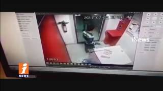 Thief's Fail in Attempt To Steal South Indian ATM at Ghatkesar Area | CCTV Footage Released | iNews