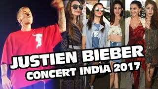 Justin Bieber Concert In India 2017 | Full HD Video | Alia Bhatt, Malaika Arora, Urvashi Rautela