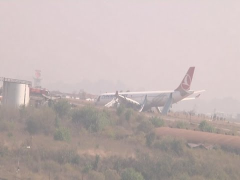 Raw- Passengers Safe After Jet Skids Off Runway News Video