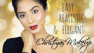 REALISTIC, QUICK & ELEGANT CHRISTMAS MAKEUP