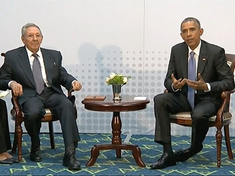 Obama and Castro Meet, Vow to Turn the Page News Video