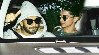 Ranveer Singh And Deepika Padukone Spotted Outside Sanjay Leela Bhansali's Office