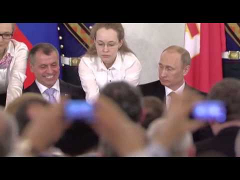 Crimean Leaders Sign Treaty to Join Russia News Video