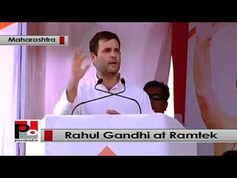 Rahul Gandhi at Ramtek, Maharashtra- Congress committed for all around development
