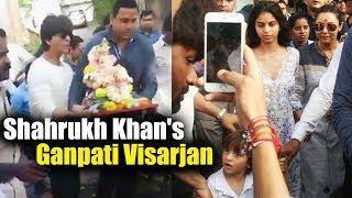 Shahrukh Khan's Ganesh Visarjan At Mannat - 2017 Ganesh Chaturthi