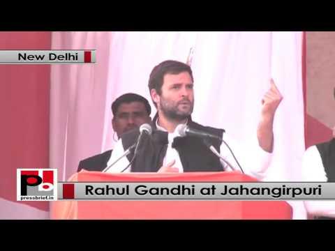 Rahul Gandhi addresses massive Congress election rally at Jahangirpuri