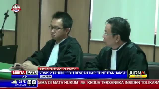 PN Jakpus Memvonis Penipu Tas Mewah Dua Tahun Penjara