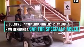 Vadodara University students launched car for handicap people