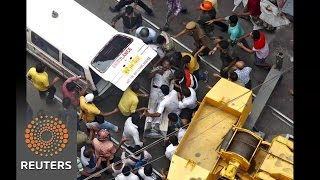 Photos show aftermath of India flyover collapse - News Video