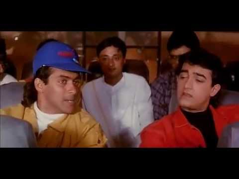 Salman Khan, Aamir Khan Comedy Scene - Andaz Apna Apna - Bollywood Movie Comedy Scene