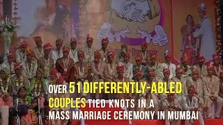 51 differently-abled couples tied knots in a mass marriage ceremony in Mumbai