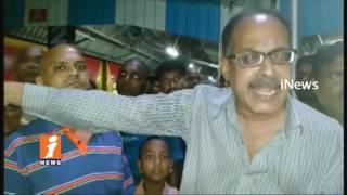 C8 Coach Missing From Tirupati to Vizag Express | Passengers Stops Train At Gudur | iNews