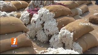 TRS MLA Aroori Ramesh Starts Cotton CCI Purchase Centers At market In Warangal | iNews