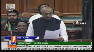 Question Hour Continue in Lok Sabha Amid Protests Over Notes Ban | iNews