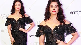 Stunning Aishwarya Rai At Vogue Beauty Awards 2017