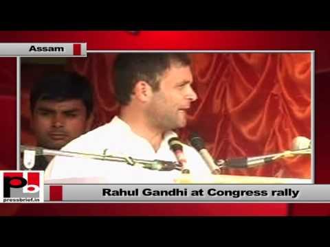 Rahul Gandhi campaigns in Sonitpur,Assam