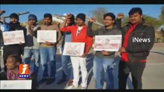 Pawan Kalyan Fans Protest At Kuwait | To Supports AP Special Status | iNews