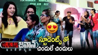Jawaan Movie Team At Chaitanya Mahila College At Miyapur - Sai Dharam Tej, Mehreen