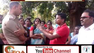 Undir-ponda Villager Stop The Work Of Laying Sewage Pipeline