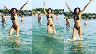 Bikini Girl Nargis Fakhri Hot Naked Body Exposed On Beach