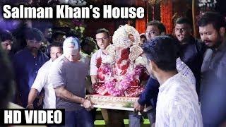Salman Khan's Ganpati Visarjan 2017 | Galaxy Apartment | FULL HD VIDEO | Ganpati Miraunuk
