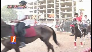Horse Hits Bikers During Horse Race In Old City | Man Died | Hyderabad | Be Careful | iNews